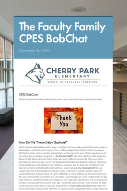 The Faculty Family CPES BobChat
