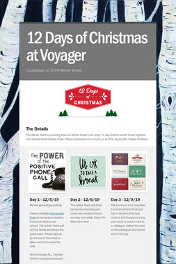 12 Days of Christmas at Voyager