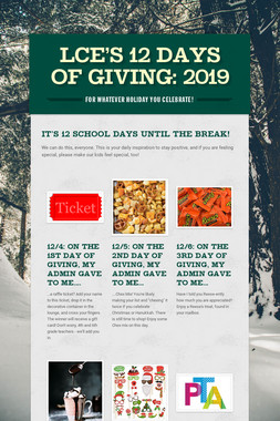 LCE's 12 Days of Giving: 2019