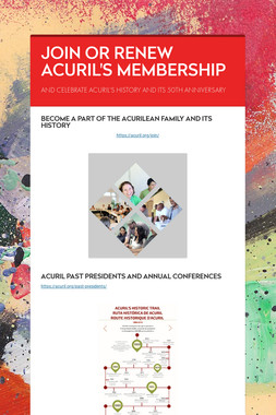 JOIN OR RENEW ACURIL'S MEMBERSHIP