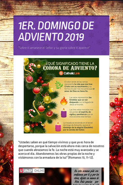 1ER. DOMINGO DE ADVIENTO 2019