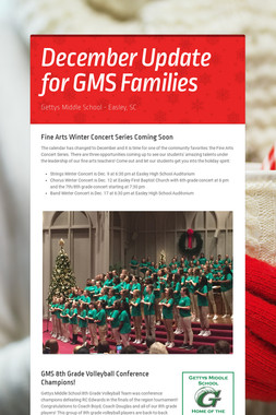 December Update for GMS Families