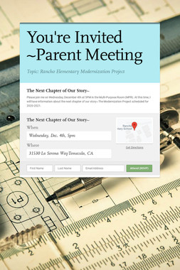 You're Invited ~Parent Meeting