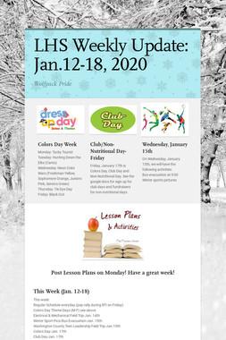 LHS Weekly Update: Jan.12-18, 2020