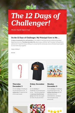 The 12 Days of Challenger!