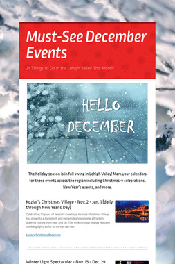 Must-See December Events