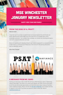 MSE Winchester January Newsletter