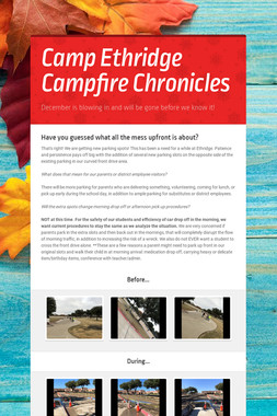 Camp Ethridge Campfire Chronicles
