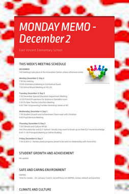 MONDAY MEMO - December 2