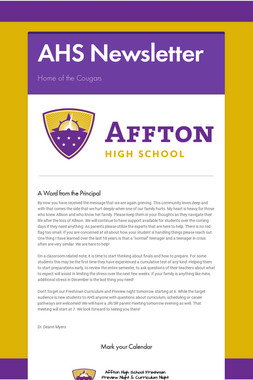 AHS Newsletter