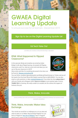 GWAEA Digital Learning Update
