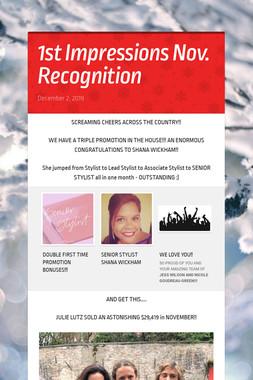 1st Impressions Nov. Recognition