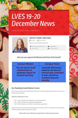 LVES 19-20 December News