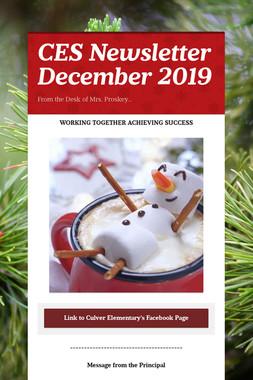 CES Newsletter December 2019