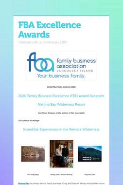 FBA Excellence Awards