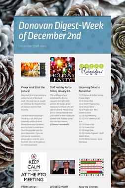 Donovan Digest-Week of December 2nd