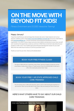 ON THE MOVE WITH BEYOND FIT KIDS!
