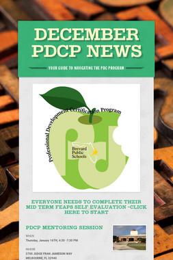 December PDCP News