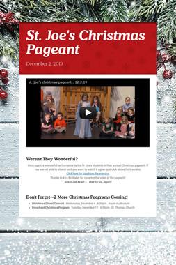 St. Joe's Christmas Pageant