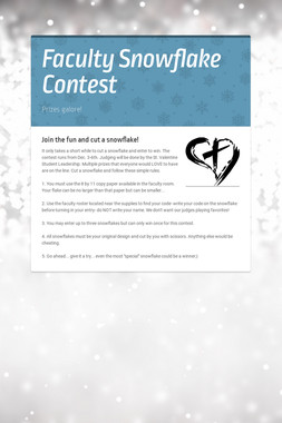Faculty Snowflake Contest