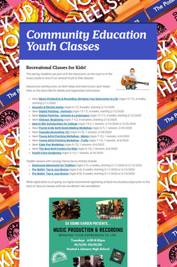 Community Education Youth Classes