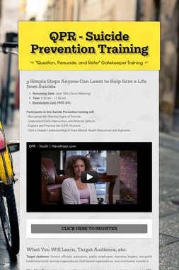 QPR - Suicide Prevention Training