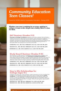 Community Education Teen Classes!