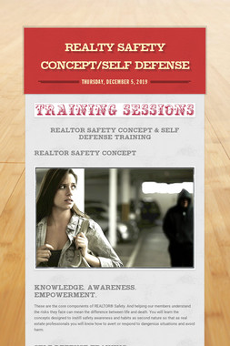 Realty Safety Concept/Self Defense