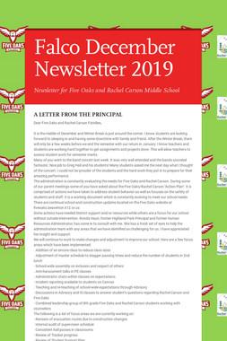 Falco December Newsletter  2019