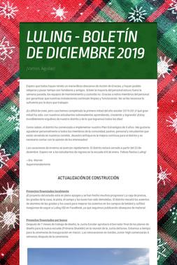 LULING - BOLETÍN DE DICIEMBRE 2019