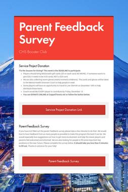 Parent Feedback Survey
