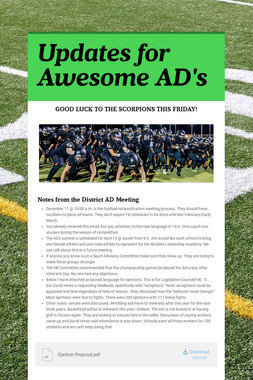 Updates for Awesome AD's