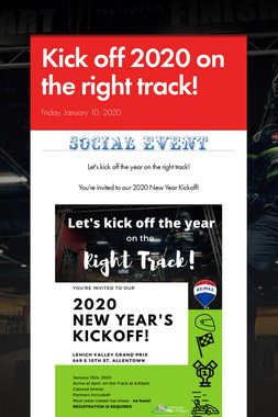 Kick off 2020 on the right track!