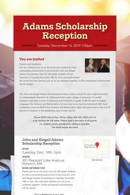 Adams Scholarship Reception