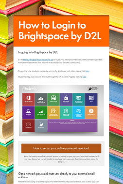 How to Login to Brightspace by D2L