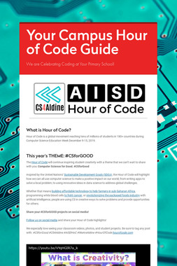 Your Campus Hour of Code Guide