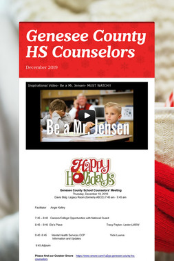 Genesee County HS Counselors
