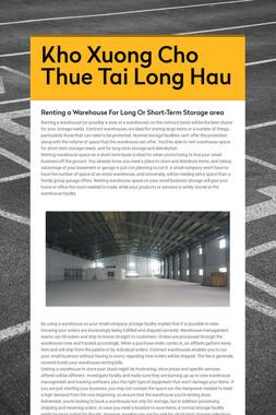 Kho Xuong Cho Thue Tai Long Hau