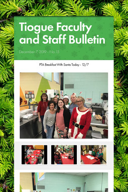 Tiogue Faculty and Staff Bulletin