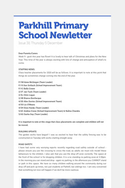 Parkhill Primary School Newletter