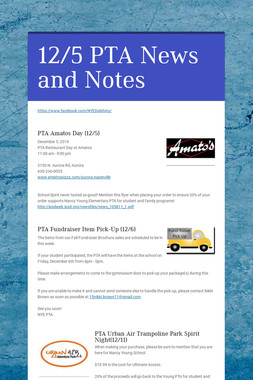 12/5 PTA News and Notes