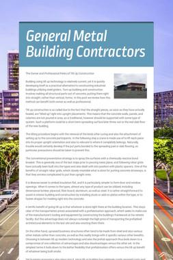 General Metal Building Contractors