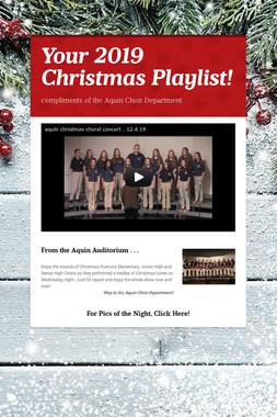 Your 2019 Christmas Playlist!