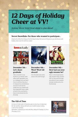 12 Days of Holiday Cheer at VV!