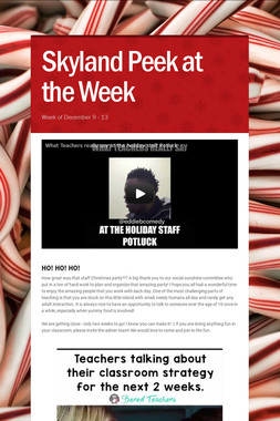 Skyland Peek at the Week