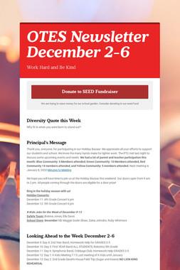 OTES Newsletter December 2-6