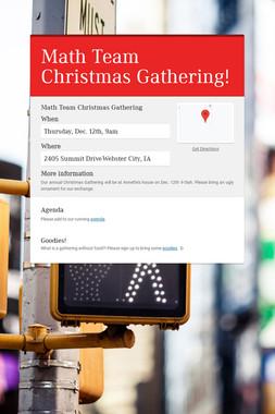 Math Team Christmas Gathering!