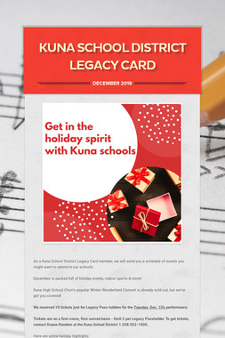 Kuna School District Legacy Card