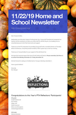11/22/19 Home and School Newsletter