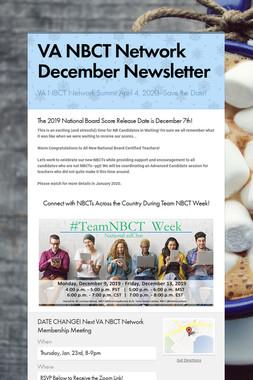 VA NBCT Network December Newsletter